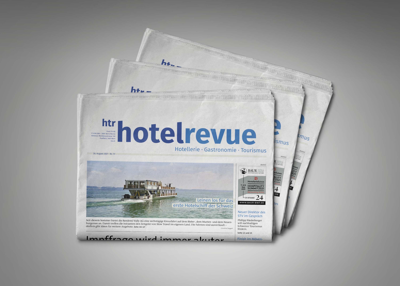 Reportage dans « HOTELREVUE » 1